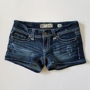 BKE Denim Stella size 28 jean shorts distressed